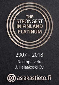 Strongest in Finland Platinum 2007-2018